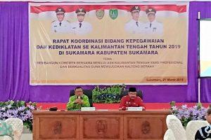 Rapat Koordinasi Kepegawaian Dan Kediklatan Se – Kalimantan Tengah Di Kabupaten Sukamara