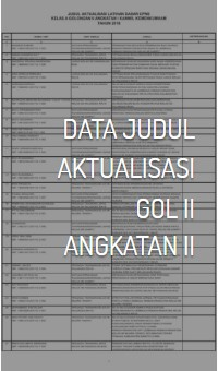 Data Judul Aktualisasi Gol II Angkatan II