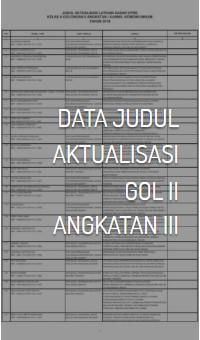 Data Judul Aktualisasi Gol II Angkatan III
