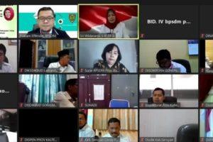 Rapat Virtual Sinergitas Peningkatan Kompetensi ASN Jabatan Fungsional Guru melalui Pola Kerjasama BPSDM Provinsi Dengan Dinas Pendidikan Se-Kalimantan Tengah