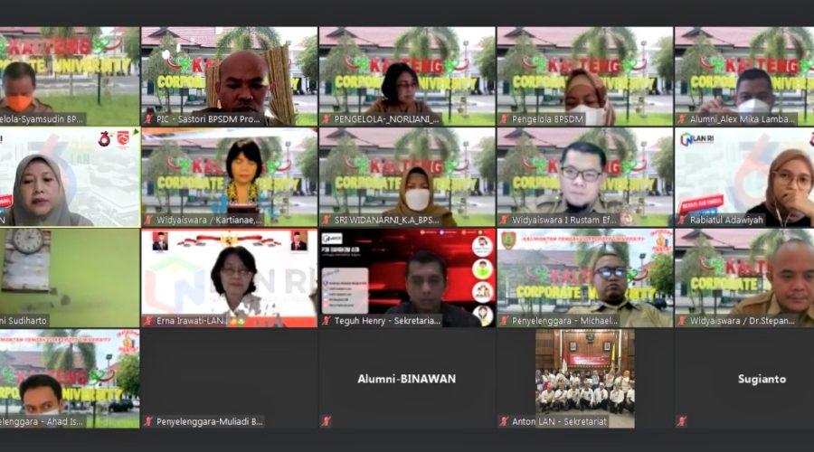 Visitasi Virtual Akreditasi LAN Ke BPSDM Provinsi Kalteng Tingkatkan Mutu Pelatihan