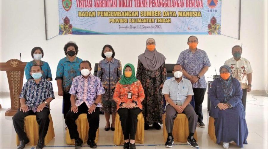 Visitasi Akreditasi BPSDM Kalimantan Tengah dari Tim Asesor Pusdiklat BNPB